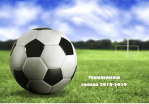 Teamindeling jeugd 2018-2019 per mail verstuurd